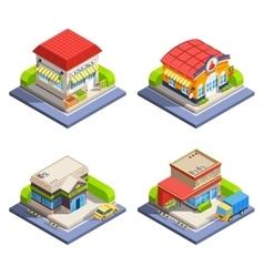 Shop Isometric Buildings Set vector