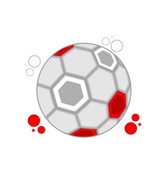 soccer ball with the colors of poland vector image