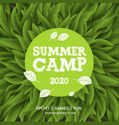 summer camp poster summer holiday and travel vector image