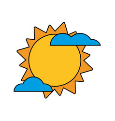 sun cloud weather image vector image