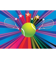 Tennis Ball and Racket4 vector