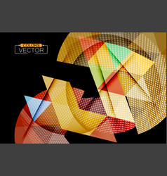Triangle geometric shape colors vector