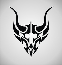 Tribal Demon Head vector image