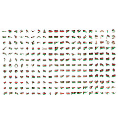 very big collection of flags of the malawi vector image