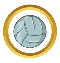 Volleyball icon cartoon style vector