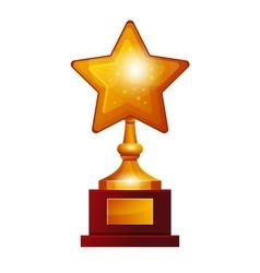 Winner golden star vector image