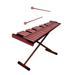 Xylophone or Marimba Isolated on White Background vector image