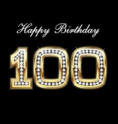 100 happy birthday vector image vector image
