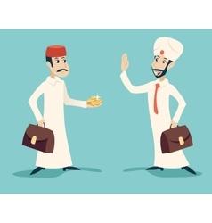 Retro Cartoon Characters Vintage Arab Businessman vector image vector image