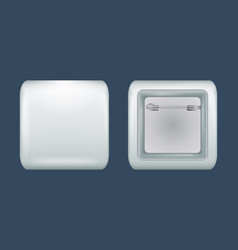 square badge mockup realistic style vector image