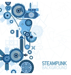 Steampunk Futuristic Background vector image