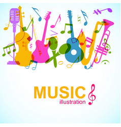 Abstract music poster vector