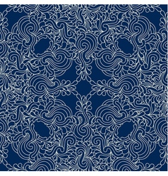 Seamless decorative zentangle graphic pattern vector image