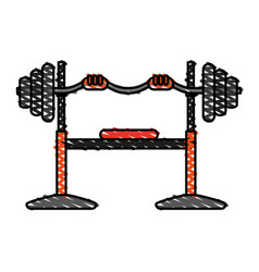 barbell vector image