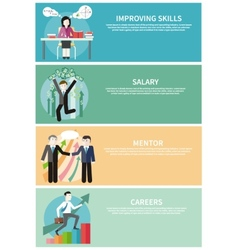 Improving Skills Careers Mentor Salary Concept vector image vector image