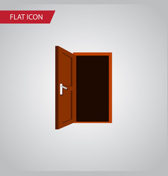 isolated frame flat icon approach element vector image vector image