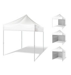 pop up tent for outdoor event vector image