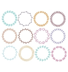 round floral wreaths vector image vector image