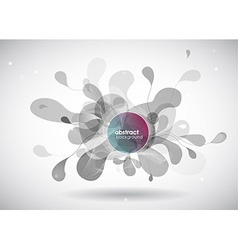 abstract grey background with circles vector image