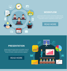 business showcase presentation banners vector image