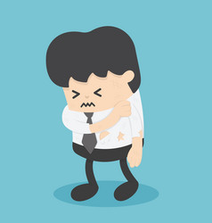 businessmen show signs injury vector image