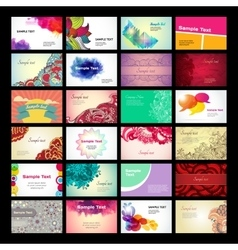 colorful business card template vector image vector image