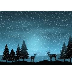 deer in winter landscape 1511 vector image