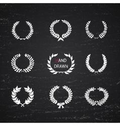 Hand Drawn laurel wreath vector image
