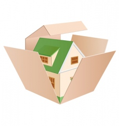 house in a box vector image vector image