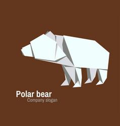 orvhami logo with polar bear vector image vector image