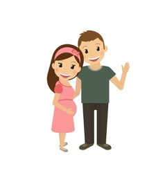 Pregnant woman with husband vector image