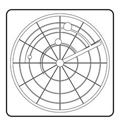 Radar icon outline style vector image vector image