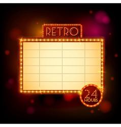 Retro billboard poster vector image