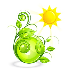 sun and green vegetation vector image vector image