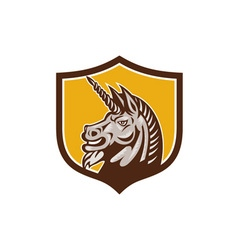 Unicorn Horse Head Side Crest Retro vector image vector image
