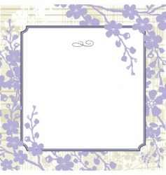 vector lilac blossom background vector image vector image
