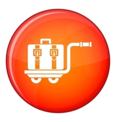 Baggage cart icon flat style vector