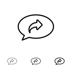 Basic chat arrow right bold and thin black line vector