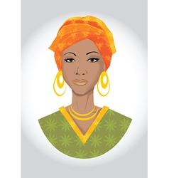 Beautiful black woman vector image