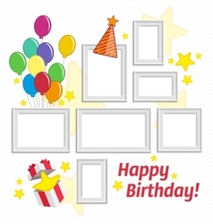 Birthday frame set vector
