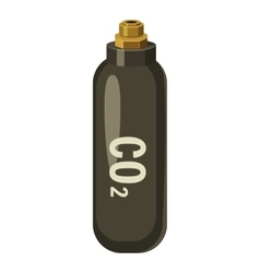 Bottle with co2 gas icon cartoon style vector