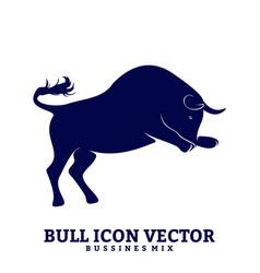 bull design silhouette bull vector image