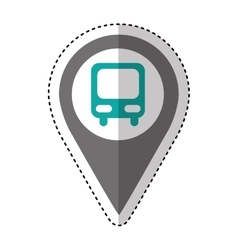 Bus station isolated icon vector
