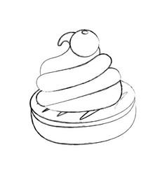 chocolate roll cake vector image