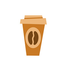 coffee poured in plastic cup take out beverage vector image