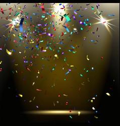 Colorful sparkling confetti vector