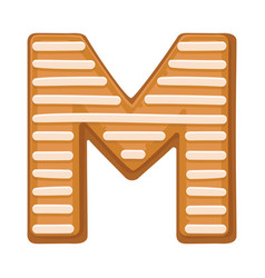 Cookies in shape letter m vector