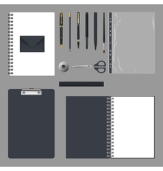 Corporate identity design Empty elements template vector image