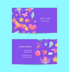Cute cartoon magic and fairytale business vector