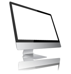 Desktop computer modern monitor display design vector